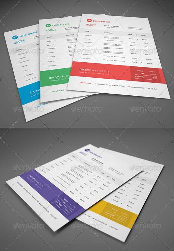 tally proforma invoice template
