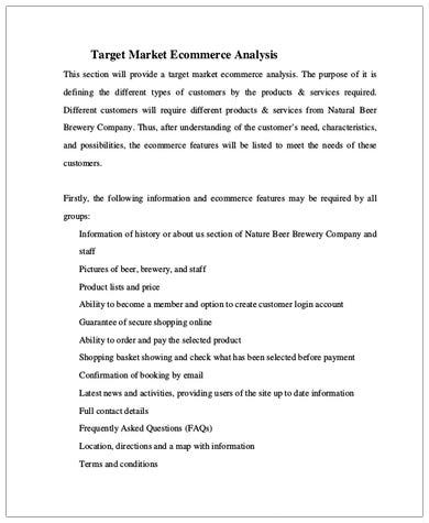 target market e commerce analysis