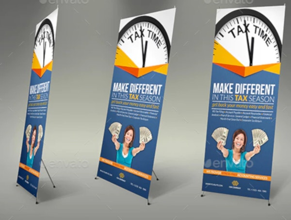 tax and accounting financial roll up banner template