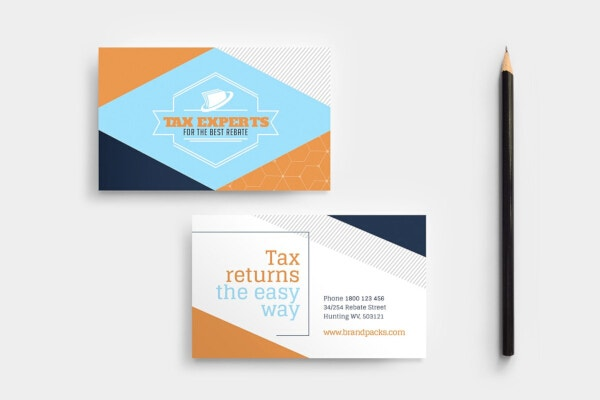 tax consulting financial business card template