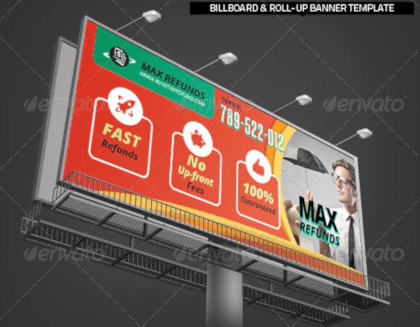 tax service roll up banner template