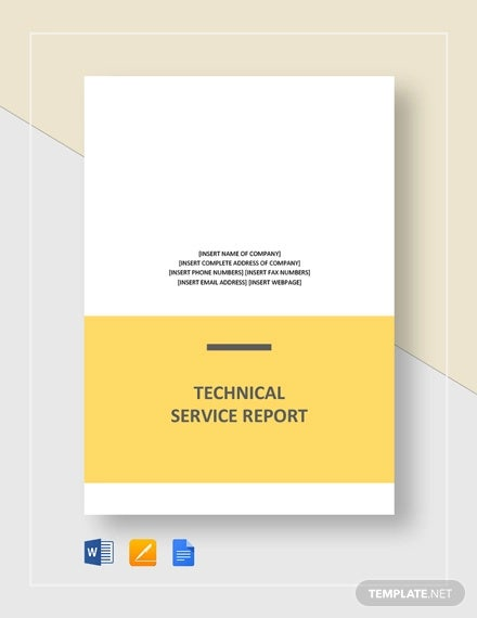 technical service report template