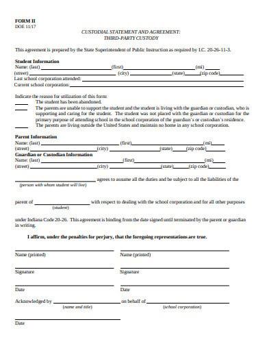 third party custody agreement