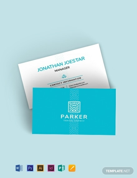 travel agency business card template