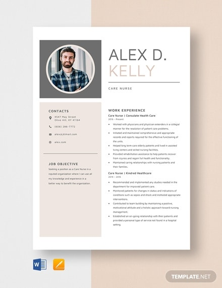 travel care nurse resume template