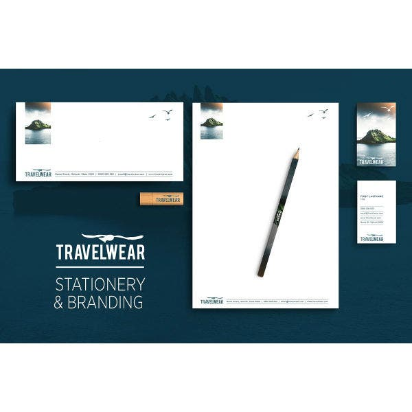 travel inspired stationery template