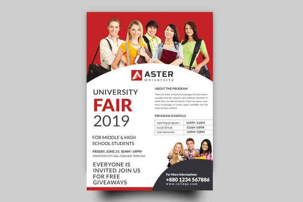 university fair flyer template