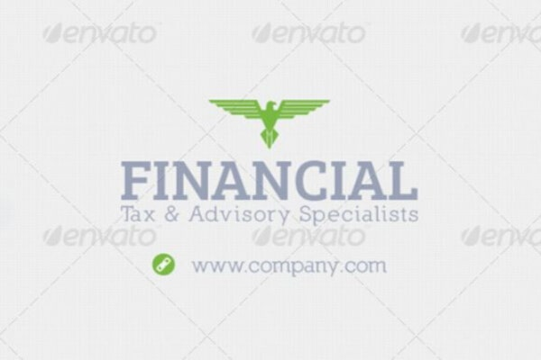 variable financial business card template