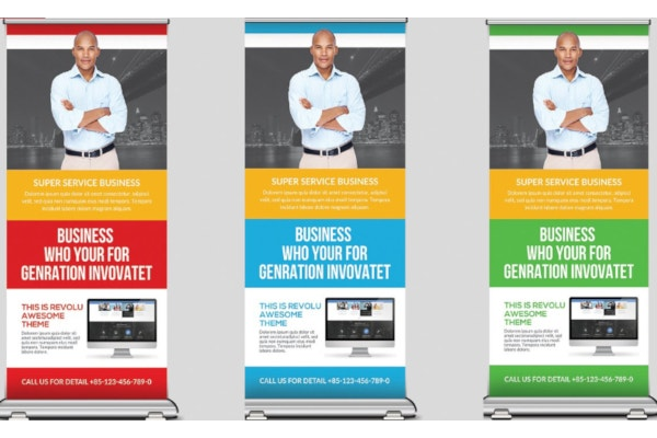 variable financial roll up banner template