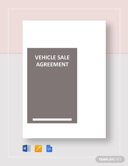 vehicle sale agreement 440