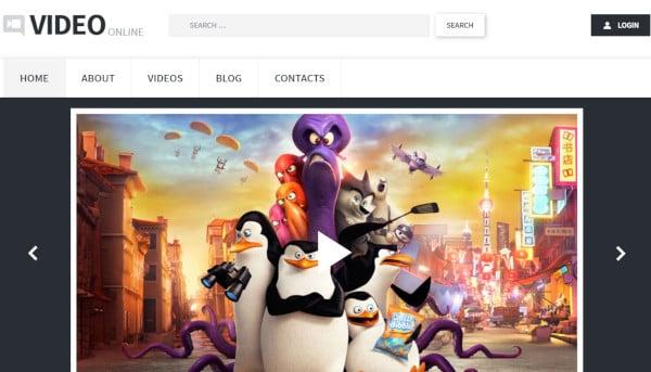 video online html5 wordpress theme