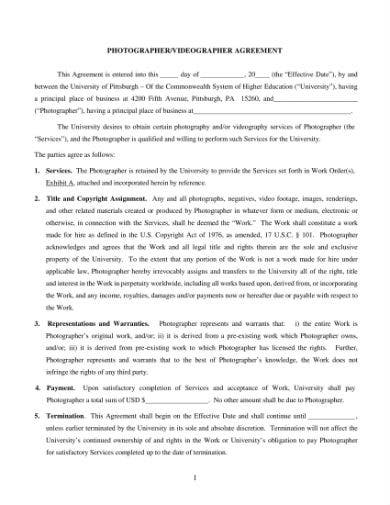 videographer agreement form 1
