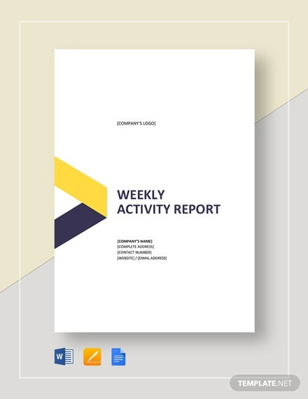 weekly activity report