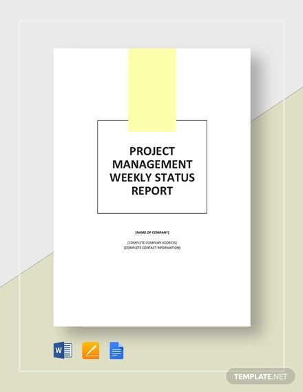 weekly project management status report template1