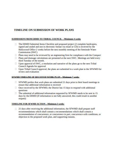 work plan timeline example in pdf