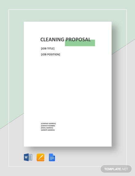 workplace cleaning service proposal format