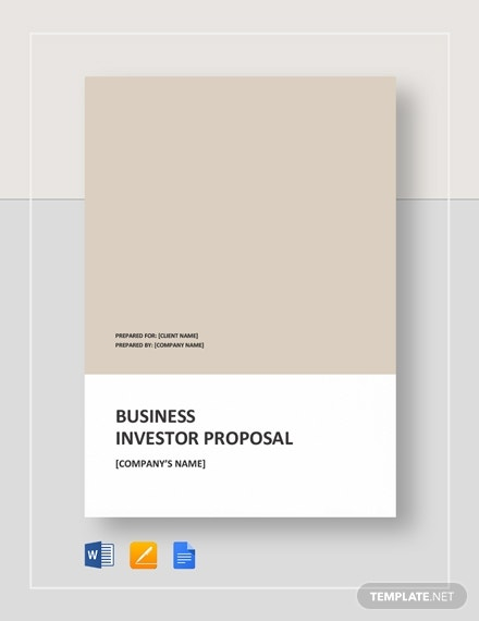 business proposal for investors