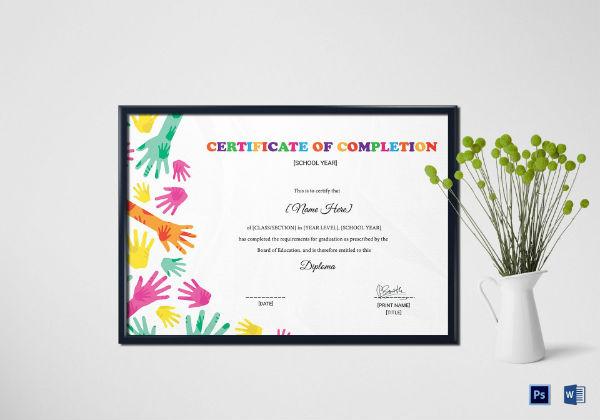 diploma certificate mockup