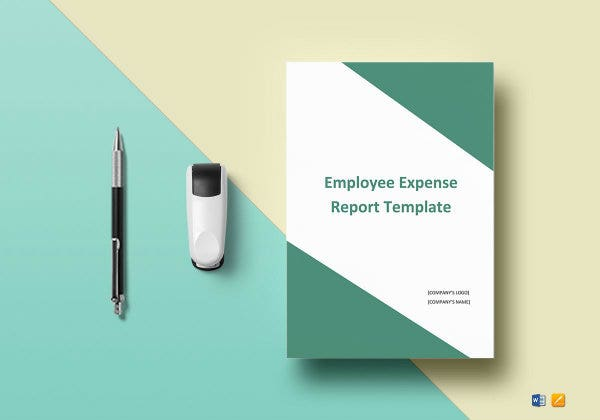 employee expense report template mockup1