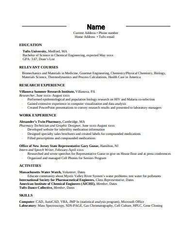 enginering student resume