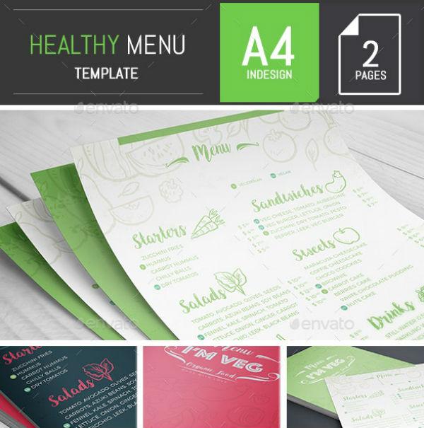 healthy menu template preview