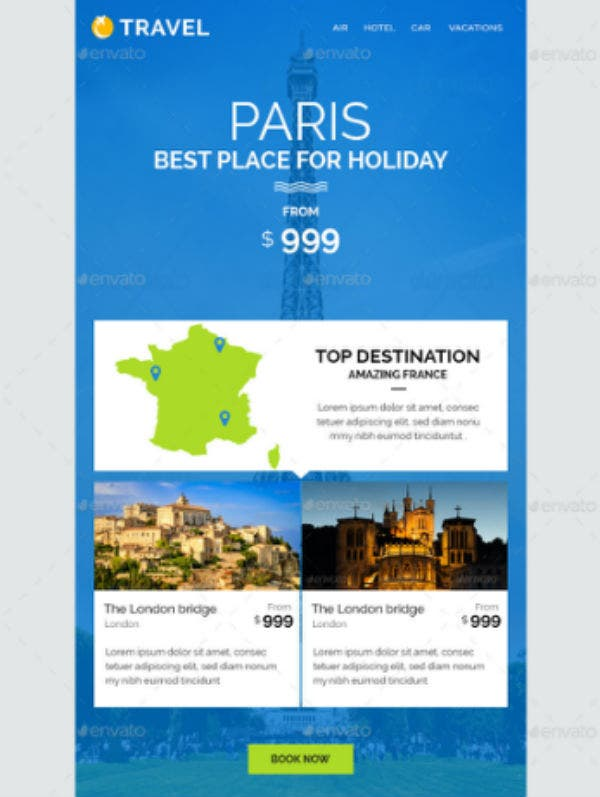 travel-email-template
