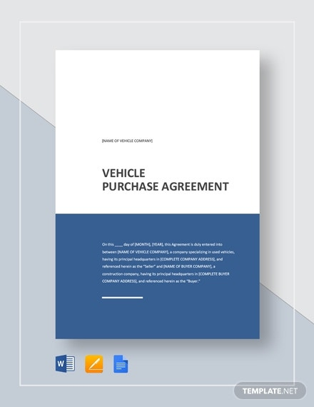 vehicle purchase agreement1