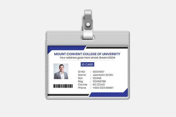 10  school id card templates