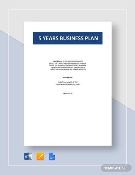 5 year business plan 1