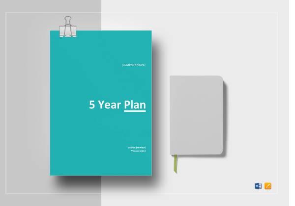 5 year plan template mockup 1