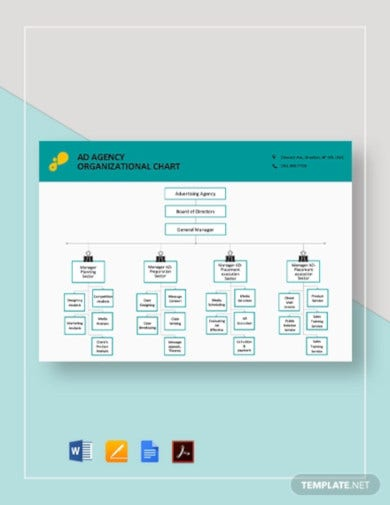 ad agency organizational chart template