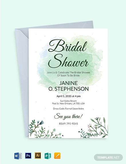abstract bridal shower invitation