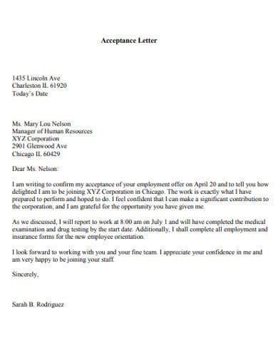 acceptance letter template