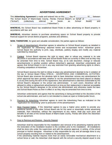 advertising agreement example