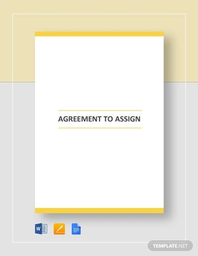agreement to assign template
