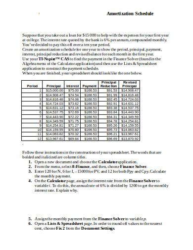 amortization schedule1