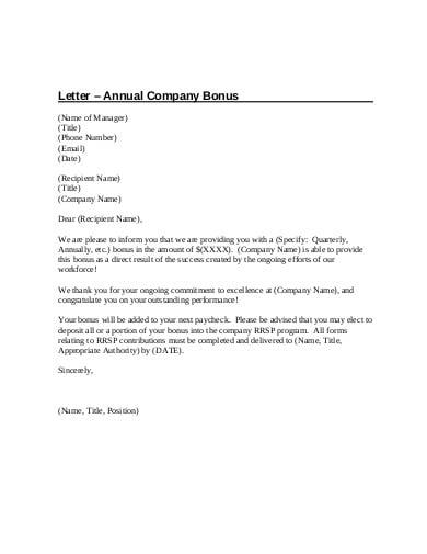 Bonus Justification Sample Letter from images.template.net