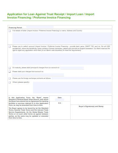 application import loan invoice