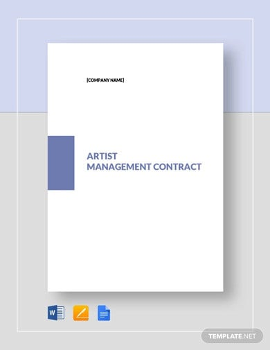 artist management contract template1