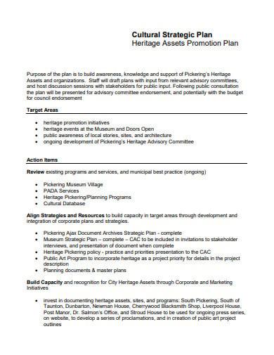 assets promotion plan