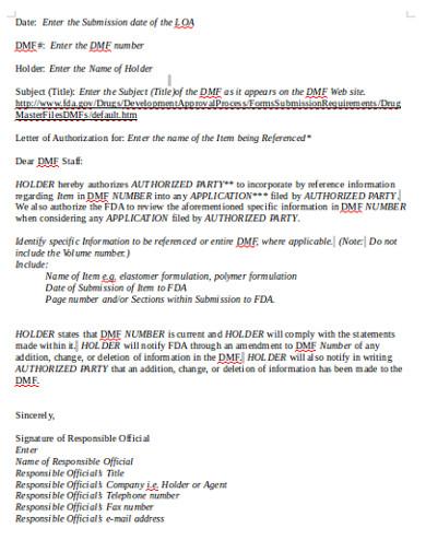 authorisation letter template
