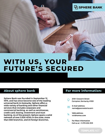 banking service flyer
