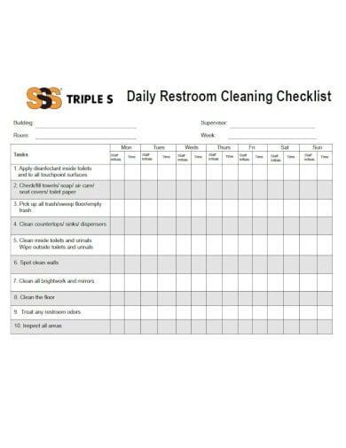 10+ Restroom Checklist Templates - Google Docs, Word ...