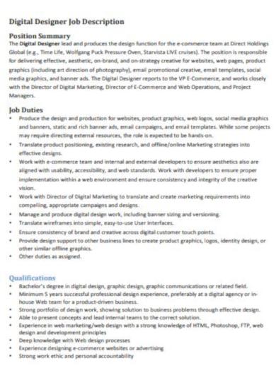 basic graphic designer job description template