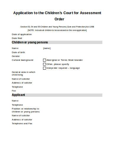 basic order template