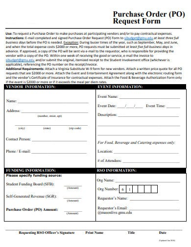 basic purchase order request form1