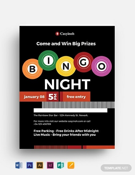 bingo flyer template 440x570 1
