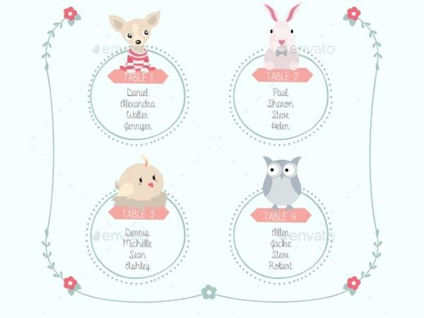 birthday seating chart template