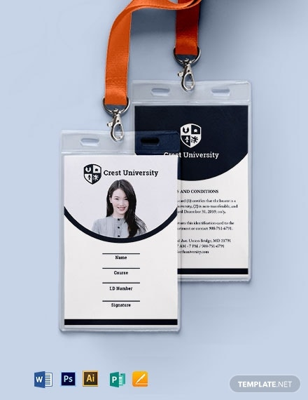 blank student id card