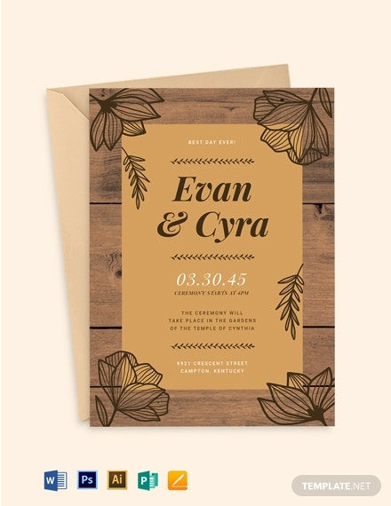 brown fall wedding invitation suite